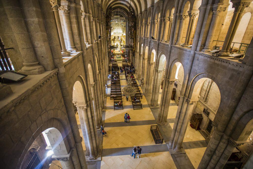 Spain El Camino Cathedral on the magnificent Praza do Obradoiro